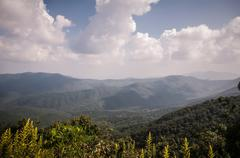 appalachian mountains from mount mitchell, the highest point in the eastern u - stock photo