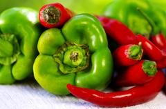 Chili and pepper Stock Photos