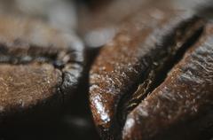 Coffee beans (close-up) Stock Photos