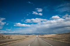 Stock Photo of rocky mountains road