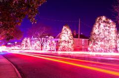 christmas town usa - stock photo
