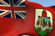 Stock Video Footage of Flag of Bermuda HD