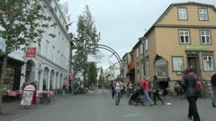 Iceland Reykjavik street entry s3 - stock footage