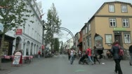 Stock Video Footage of Iceland Reykjavik street entry s3