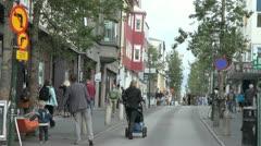 Iceland Reykjavik downtown street scene  Stock Footage