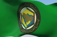 Stock Video Footage of Flag of Cooperation Council for the Arab States of the Gulf NTSC