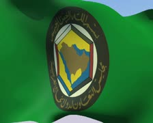 Flag of Cooperation Council for the Arab States of the Gulf NTSC Stock Footage