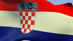 Stock Video Footage of Flag of Croatia HD