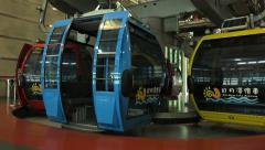 System of cable car powerhouse in the loop Stock Footage