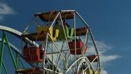 Oktoberfest Germany Munich Beer Festival carousel Roller Coaster Stock Footage