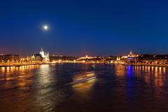 Night Budapest panorama - stock photo