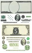 are fixed detailed vector ornament liberally founded one hundred dollar bills - stock illustration