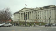 Stock Video Footage of US Department of the Treasury