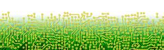 green circuit board graphical border - stock illustration