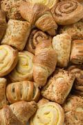 Assorted Danish pastries - stock photo
