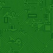 Abstract electronics green texture Stock Illustration