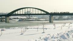 Belgrad, Sava-joen, talvi Arkistovideo