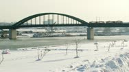 Stock Video Footage of Belgrade, Sava river, winter