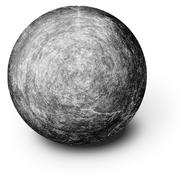 perfectly round ball shaped stone on white - stock illustration