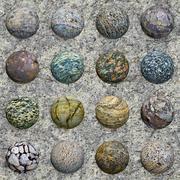 Set of stone balls on granite wall - seamless texture Stock Illustration