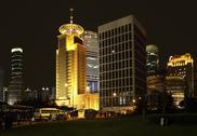 Pudong in shanghai at night Stock Photos