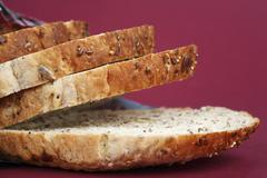 Several slices of granary bread Stock Photos