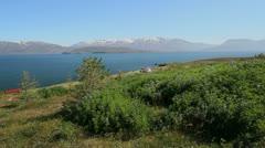 Iceland Eyjafjordur at Ytra Aland c Stock Footage