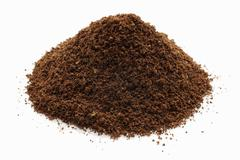 A heap of ground coffee Stock Photos