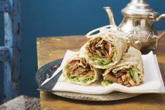 Stock Photo of Döner wraps from Turkey
