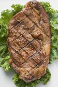 Stock Photo of Grilled beef steak from above