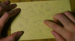 Secret map treasure Stock Footage