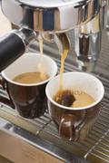 Making espresso Stock Photos