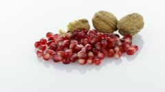 Pomegranate seed pile - stock footage