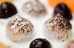 cream ball of cake - stock photo
