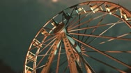 Scary creepy ferris wheel Stock Footage