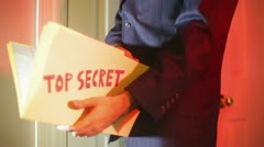 Top secret business espionage secrecy Stock Footage