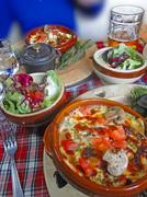 Stock Photo of hearty skiers savoyard lunch ..