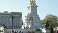 Stock Video Footage of Time lapse of Buckingham Palace on a sunny day