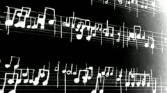 Music notes Stock Footage