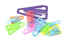 Colorful paper-clips Stock Photos