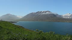 Iceland Olafsfjordur view Stock Footage