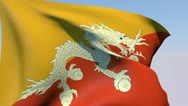 Stock Video Footage of Flag of Bhutan HD