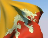 Stock Video Footage of Flag of Bhutan PAL