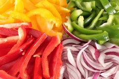 cut vegetables - stock photo