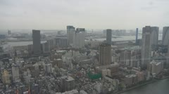 Aerial view of Tokyo by day, Japan Stock Footage