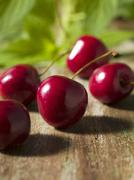 Whole Fresh Cherries Stock Photos
