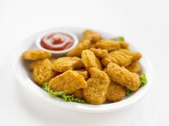 Chicken nuggets Stock Photos