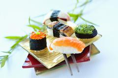 Stock Photo of Assorted sushi
