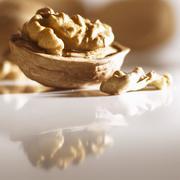 Walnut in half shell Stock Photos