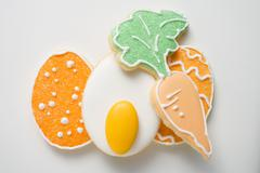 Assorted Easter biscuits Stock Photos